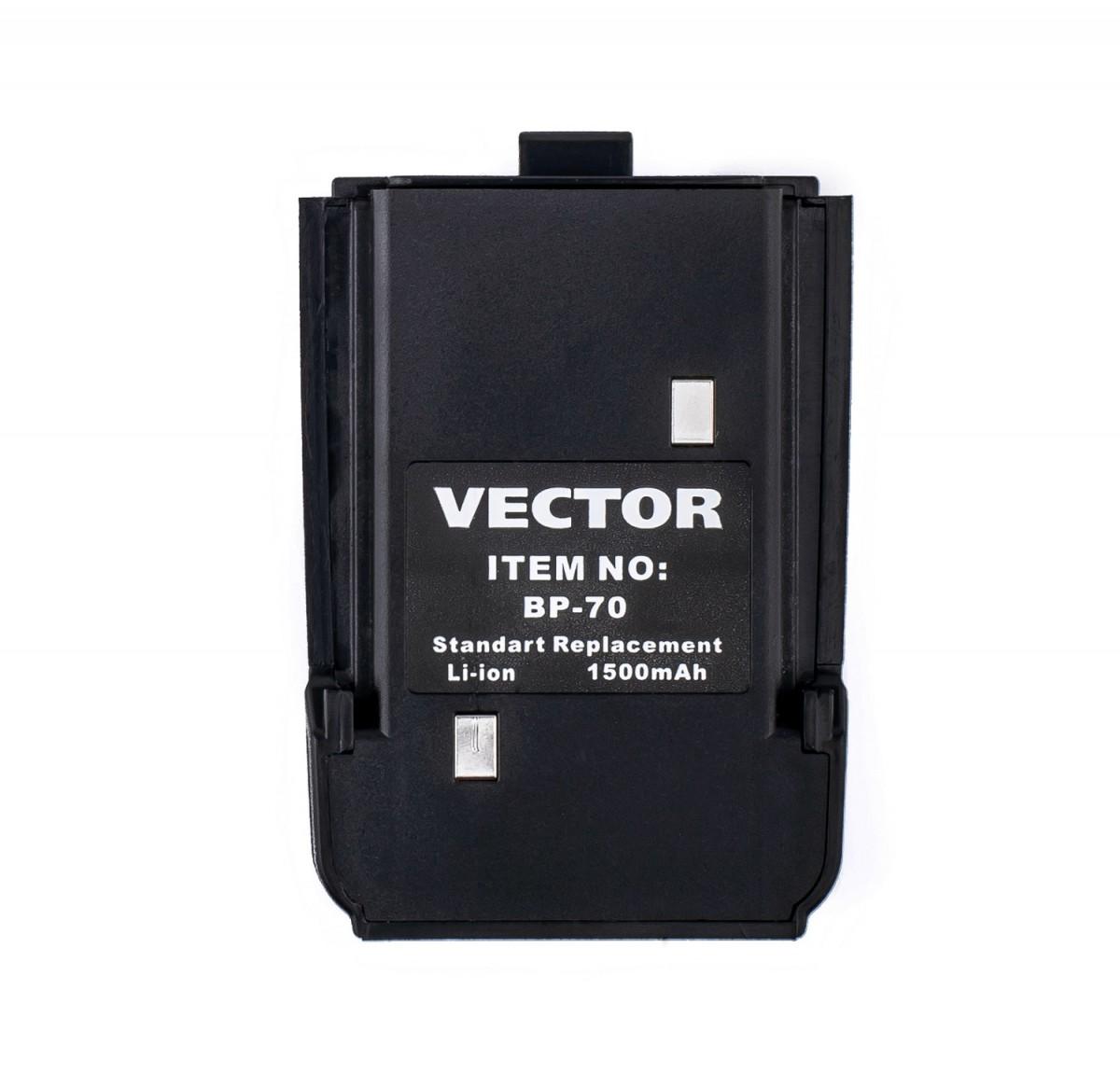 Штатный Li-Ion аккумулятор Vector BP-70